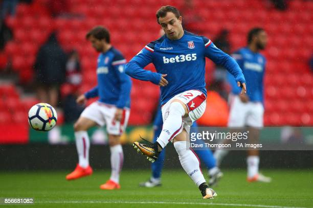 Stoke City's Xherdan Shaqiri during the Premier League match at the bet365 Stadium Stoke