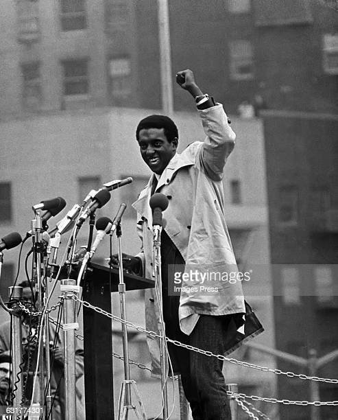 Stokely Carmichael attends an AntiVietnam War Rally at the United Nations circa 1967 in New York City