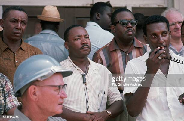 Stokely Carmichael leader of SNCC speaks to a March Against Fear rally on the steps of the Neshoba County Courthouse in Philadelphia Fellow civil...