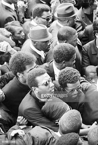 Stokely Carmichael stands in the crowd at Ebenezer Baptist Church in Atlanta Georgia during the funeral of slain civil rights leader Martin Luther...