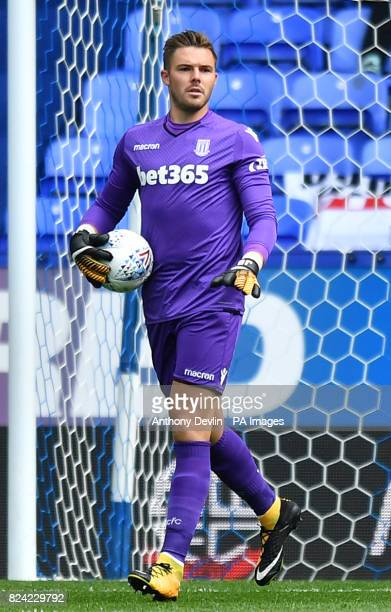 Stoke's Jack Butland during the preseason match at the Macron Stadium Bolton