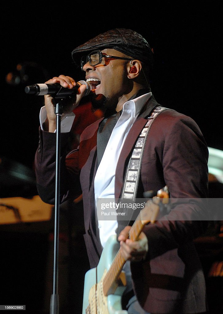 Stokley Williams performs with Mint Condition as a opening act for Brian McKnight in concert at Masonic Temple Theater on November 23, 2012 in Detroit, United States.