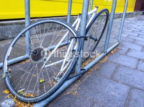 Stolen Bike Parts In London Stock Photo Thinkstock
