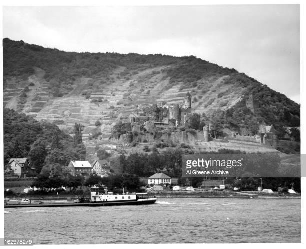 Stolzenfels Castle on the Rhine River Near Koblenz Germany 1955
