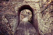 Medieval stone arc and path
