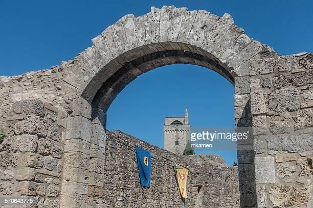Stone archway, San Gimignano, Italy