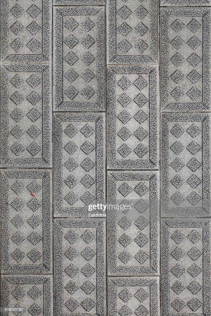 Stone block walk : Stock Photo