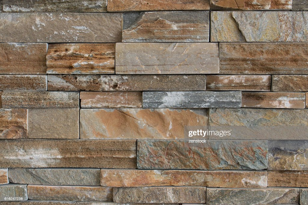 Stone brick texture wall background : Stock Photo