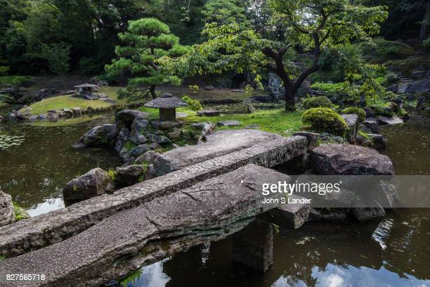 Stone Bridge at Tamazato Garden officially known as Gardens of Tamazato Residence Naroiki Shimadzu built the villa called Tamazato Residence here in...