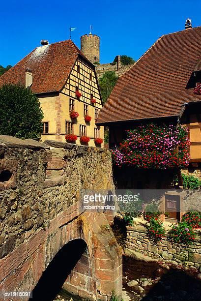 Stone Bridge in Kaysersberg, Alsace, France