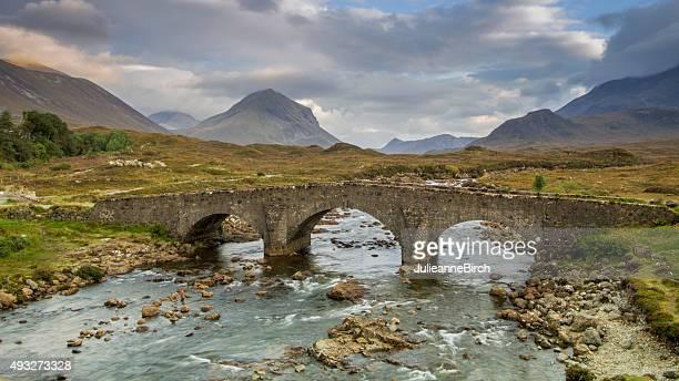 Pont de pierre près de Sligachan, Île de Skye