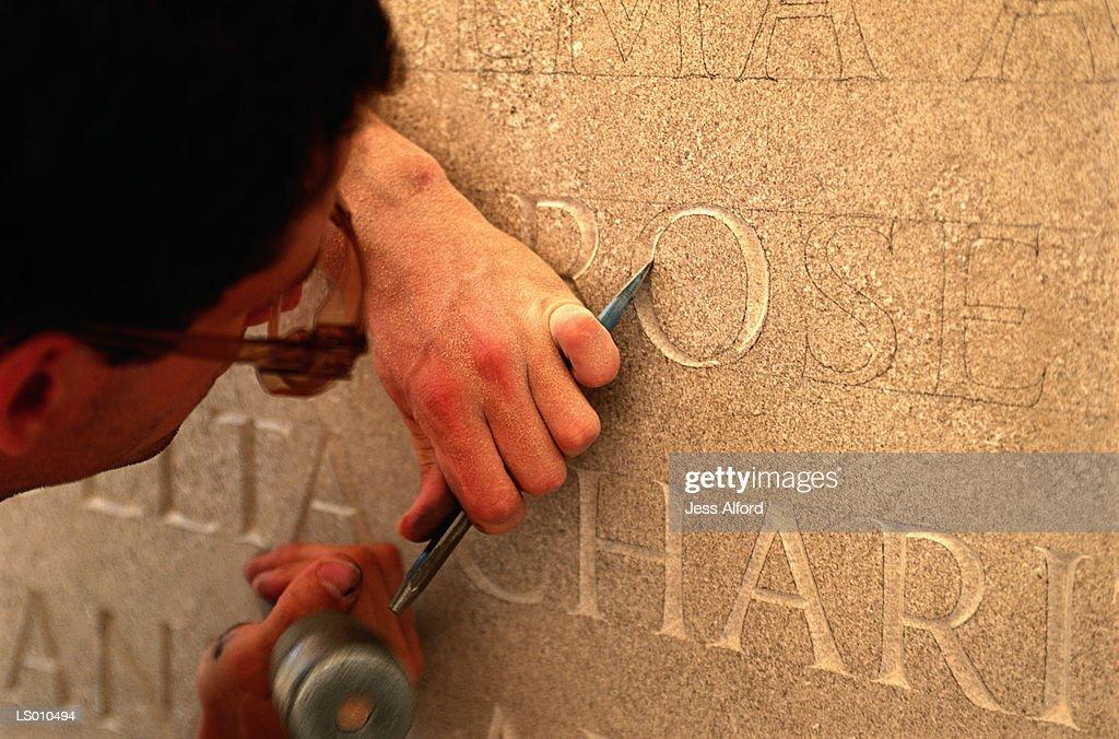Stone Carver : Stock Photo