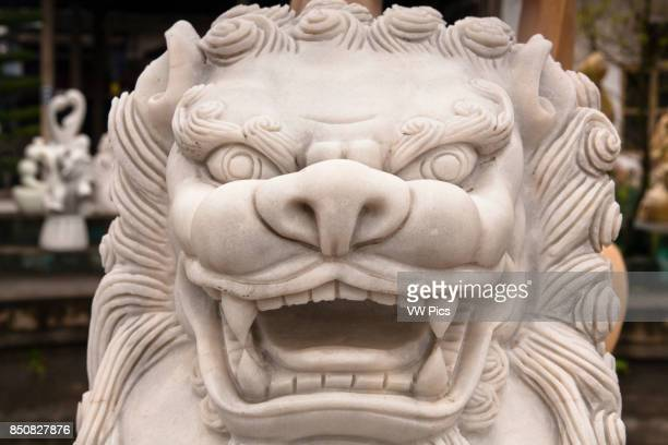 Stone carving of a lion Hai Duong Vietnam