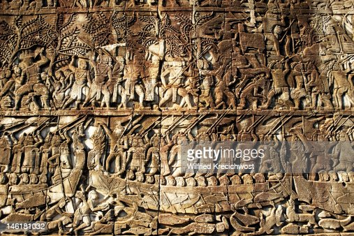 Stone carvings angkor wat stock photo getty images