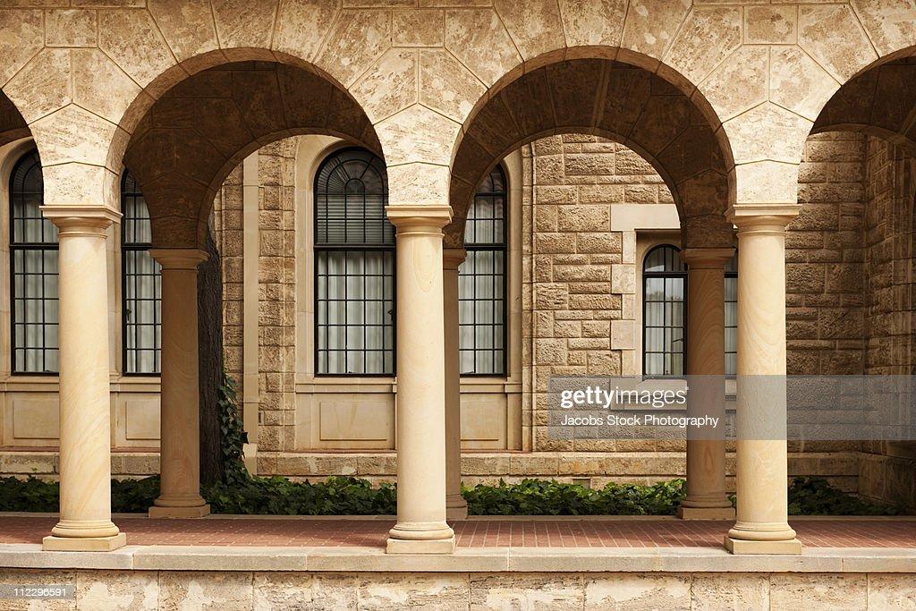 Stone Columns and Corridor : Stock Photo