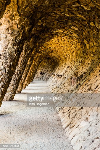 Stone columns in Guell Park, Barcelona