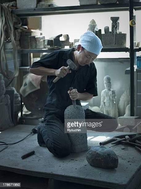 Stone craftsman,artisan