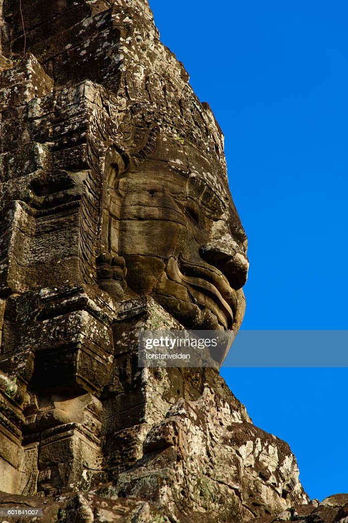 Stone Faces of the Bayon Temple, Angkor Wat, Siem Reap, Cambodia