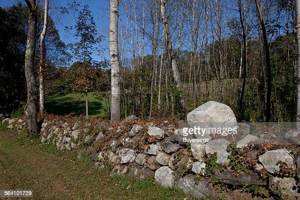 Stone fence in Litchfield Connecticut