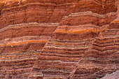 Fault lines and colorful layers in standstone also useful as a background or texture.