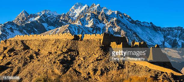 Stone fortress on silk road, Xinjiang China