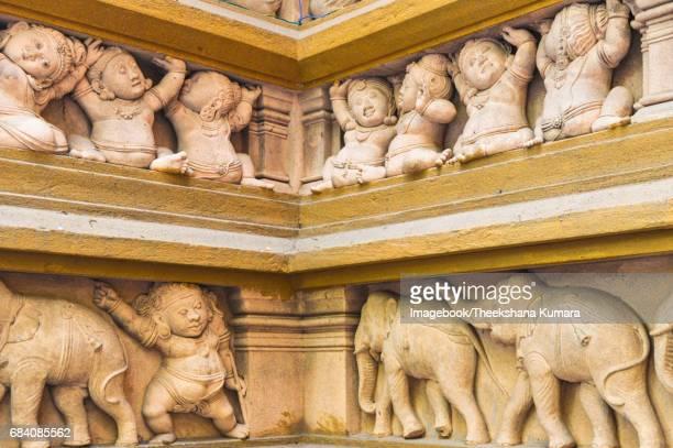 Stone frieze, The Kelaniya Raja Maha Vihara or Kelaniya Temple, Sri Lanka.