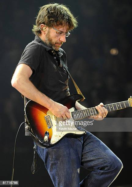 NEW YORK JUNE 24 *EXCLUSIVE* Stone Gossard of Pearl Jam performs at Madison Square Garden on June 24 2008 in New York City