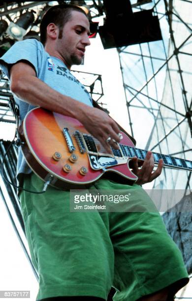 Stone Gossard of the band Pearl Jam performs at Lollapalooza at Harriet Island in Saint Paul Minnesota on August 28 1992