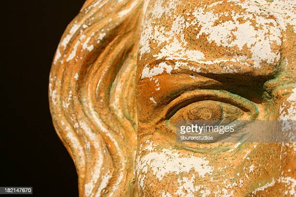 Stone Greek Zeus Mask Detail Vision into the past