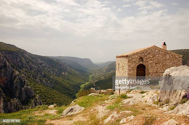 Stone house on top of mountain