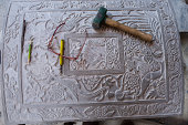 Stone inscription and  tools