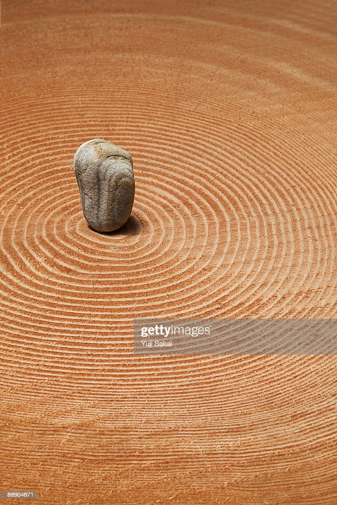 stone on the  an annual ring : Stock Photo