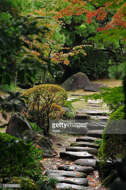 Stone path in the japanese garden
