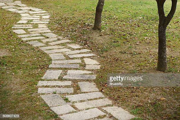 Stone path in the park