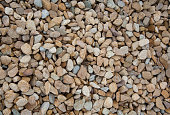 Stone pebbles brown and gray gravel texture background for decoration.