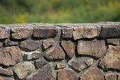 A stone wall.