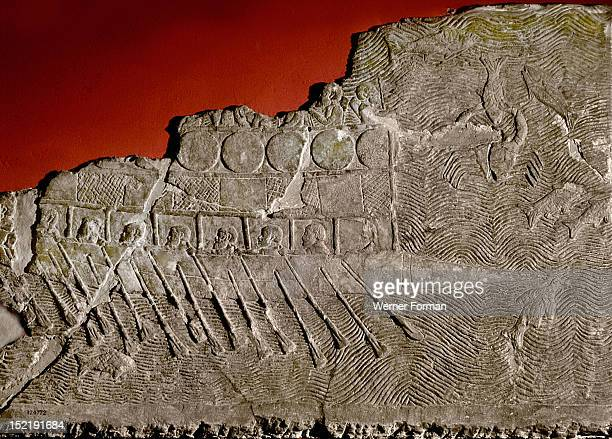 Stone relief from the palace of king Sennacherib A Phoenician warship King Sennacherib led an expedition against Phoenicia and Palestine in 702 BC...