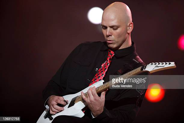 Stone Sour performs on stage during a concert in the Rock in Rio Festival on September 24 2011 in Rio de Janeiro Brazil Rock in Rio Festival comes...