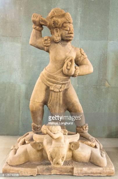 A stone statue of Dvarapala guarding the gateway, Danang Museum of Cham Sculpture, Danang, Vietnam