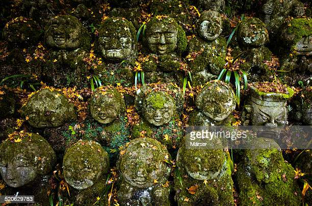 Stone statues of arhats