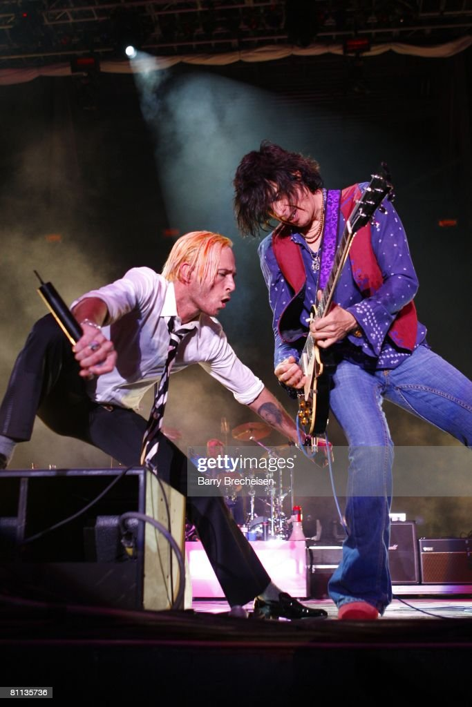 Stone Temple Pilots perform during the 2008 Rock on the Range music festival at Columbus Crew Stadium on May 17 2008 in Columbus Ohio