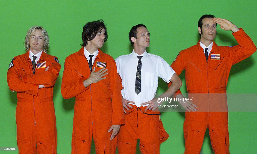 Stone Temple Pilots pose during the filming of the video for their single 'Days of the Week' from their upcoming album ShangriLa Dee Da The video was...