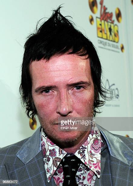 Stone Temple Pilots singer Scott Weiland arrives at the world premiere of Cirque du Soleil's 'Viva ELVIS' production at the Aria Resort Casino at...