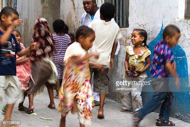 Pierre ville, le Zanzibar : Danse dans la rue