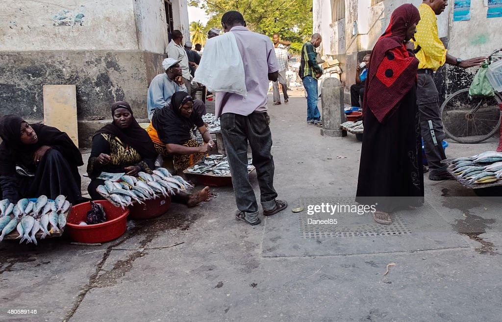 Stone Town, Zanzibar - Market : Stock Photo