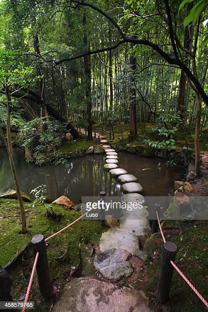 Stone walk at Tenjuan temple, Nanzenji complex. Kyoto, Japan