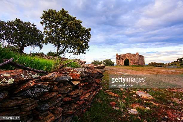Stone Wall and Chapel Monsaraz, Alentejo, Portugal