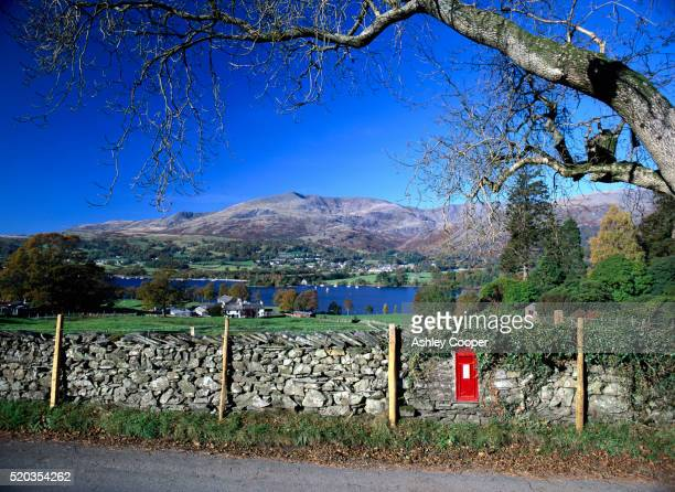 Stone Wall and Mountain in Coniston