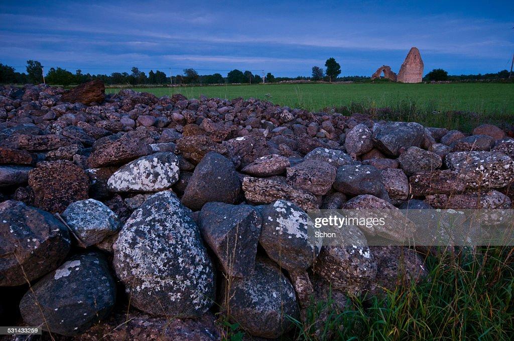 Stone wall at ruin