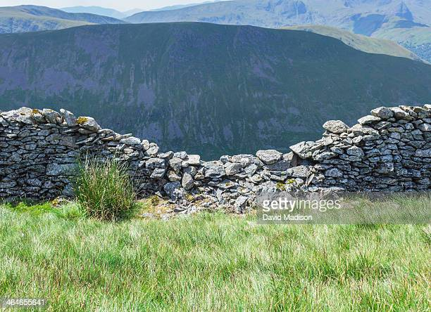 Stone wall in Lake District, England